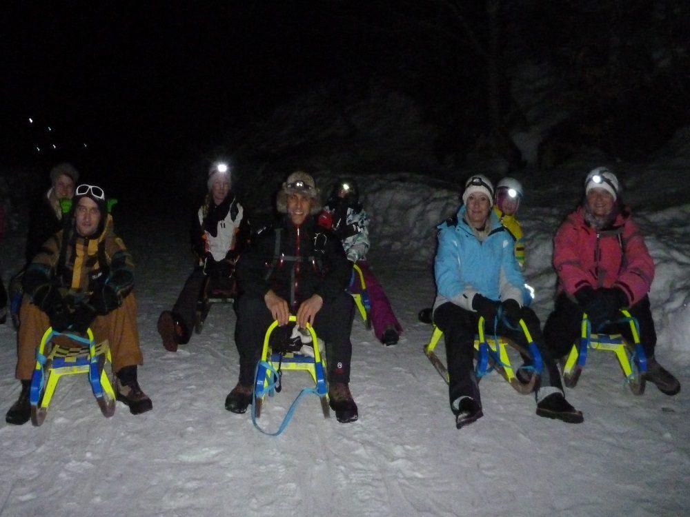 Winterwanderung mit Nachtrodeln