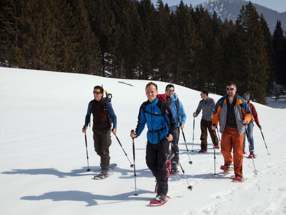 Teambuilding auf Schneeschuhen